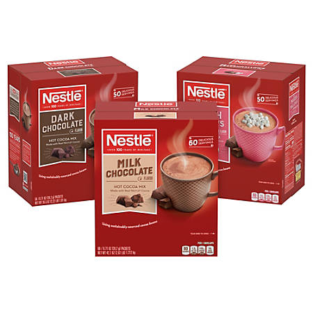 Nestle Hot Cocoa Mix, 42.7 Oz, Assorted Flavors, Pack Of 3 Boxes