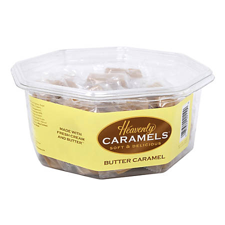 Heavenly Caramels Soft And Delicious Butter Caramel Candy, Tub Of 45 Pieces