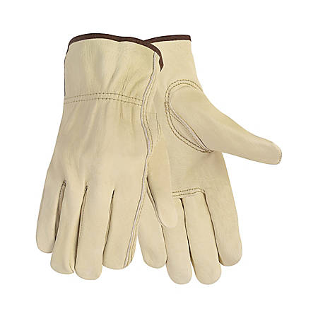 MCR Safety Memphis Leather Driver Gloves, Large, Cream