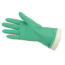 Memphis Flock Lined Nitrile Gloves Green