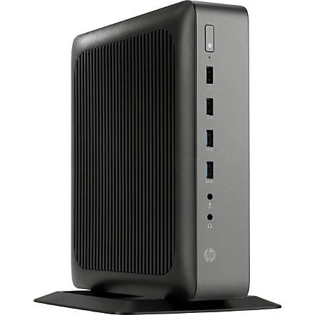 HP t620 PLUS Thin Client, AMD G-Series, 4GB Memory, 16GB Solid State Drive, AMD Radeon HD 8400E, 7E Wireless DisplayPort Network