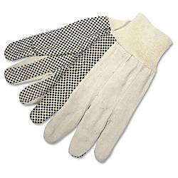 Memphis Dotted Canvas Gloves White Dozen