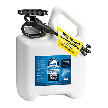 Bare Ground Liquid De-Icer, Inhibited MagPlus With Pump Sprayer, 1 Gallon