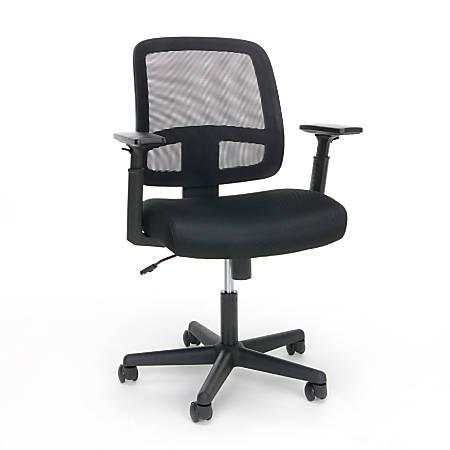 OFM Essentials Mid-Back Task Chair, Black
