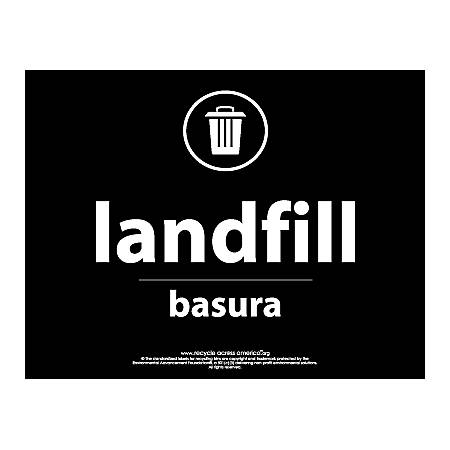 """Recycle Across America Landfill Standardized Recycling Labels, LAND-8511, 8 1/2"""" x 11"""", Black"""