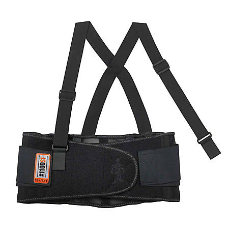 Ergodyne ProFlex® Economy Back Support, 1100SF, X-Small, Black