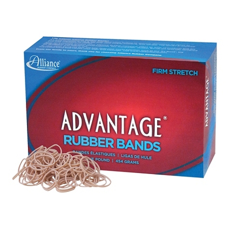 "Alliance® Advantage Rubber Bands, Size 10, 1 1/4"" x 1/16"", Natural, Box Of 3700"