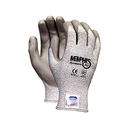 Memphis Dyneema Polyurethane Gloves, Extra Large, White/Gray