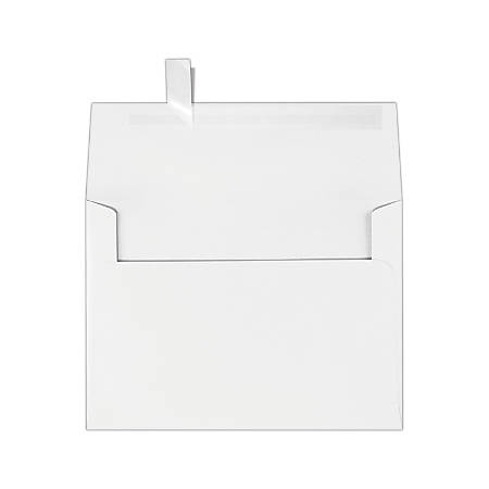 "LUX Invitation Envelopes With Peel & Press Closure, A7, 5 1/4"" x 7 1/4"", White, Pack Of 50"