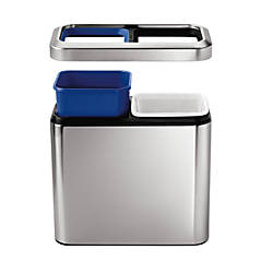 simplehuman Slim Dual Compartment Open Top