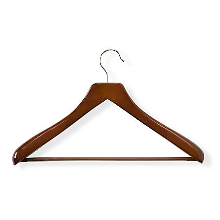 Honey-Can-Do Curved Wood Suit Hangers, Cherry, Pack Of 2