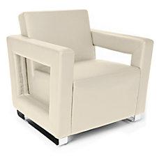 OFM Distinct Series Lounge Chair CreamChrome