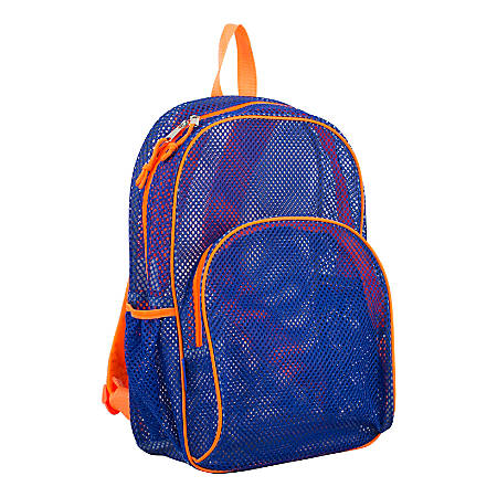 Eastsport Sport Mesh Backpack, Indigo/Orange