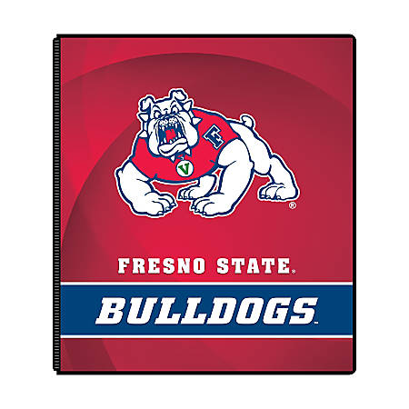"Markings by C.R. Gibson® Round-Ring Binder, 1"" Rings, Fresno State Bulldogs"