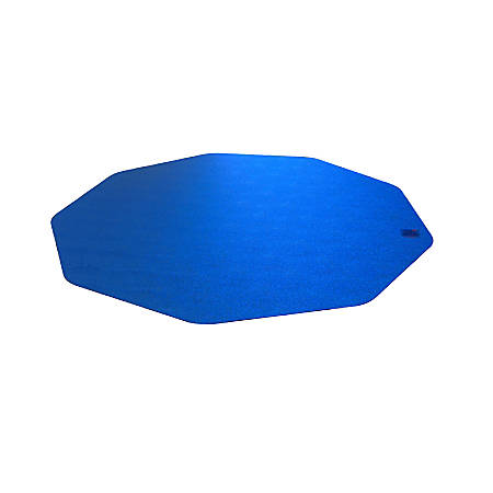"Floortex Cleartex Ultimat 9 Chair Mat, Hard Floors, Nonagon, 38""H x 39""W, Blue"