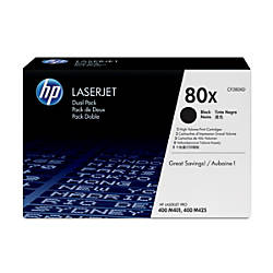 HP 80X CF280XD High Yield Black