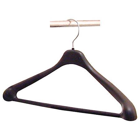 Lorell® Suit Hangers, Black, Pack Of 24