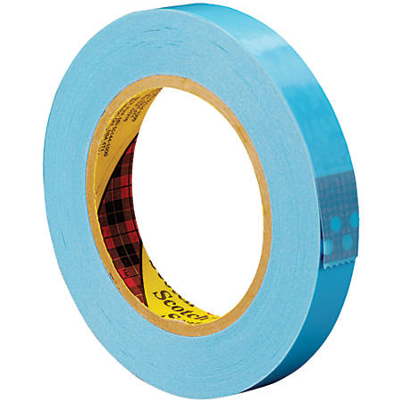 "Scotch® 8896 Strapping Tape, 3"" Core, 0.75"" x 60 Yd., Blue, Case Of 12"