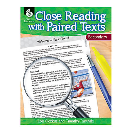 Shell Education Close Reading With Paired Texts, Grades 6-8