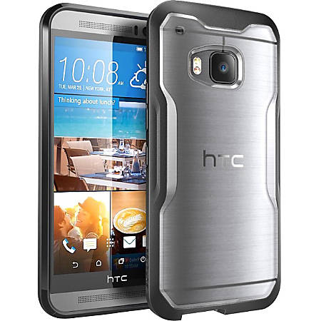 SUP HTC One M9 Unicorn Beetle Hybrid Protective Bumper Case - For Smartphone - Transparent, Frost, Black - Shock Absorbing - Thermoplastic Polyurethane (TPU), Polycarbonate