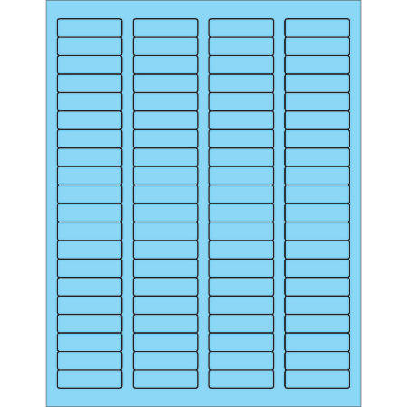 """Office Depot® Brand Labels, LL170BE, Rectangle, 1 3/4"""" x 1/2"""", Pastel Blue, Case Of 8,000"""