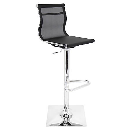 Lumisource Mirage Bar Stool, Black/Silver