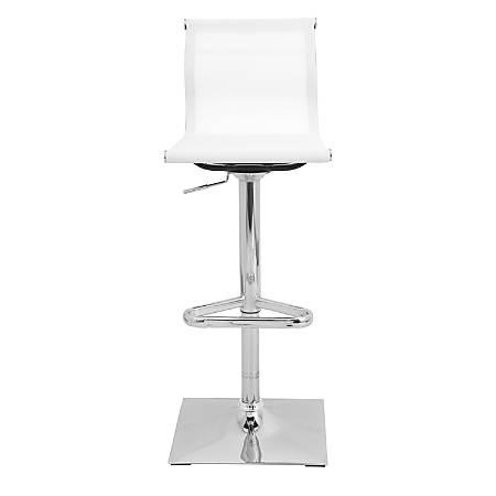 Lumisource Mirage Mesh Bar Stool, White/Chrome