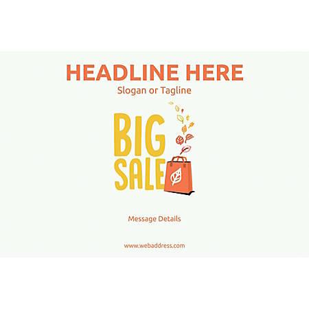 Adhesive Sign, Big Sale Bag, Horizontal