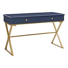 Linon Amy Campaign Desk BlueGold