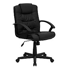 Flash Furniture Leather Mid Back Swivel