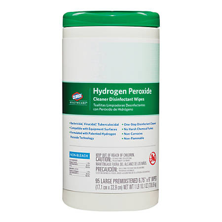 Clorox Healthcare Hydrogen Peroxide Disinfecting Wipes 9 x 6 34