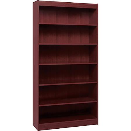 "Lorell® Veneer Bookcase, 6-Shelf, 84""H, Mahogany"