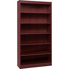 Lorell Veneer Bookcase 6 Shelf 84