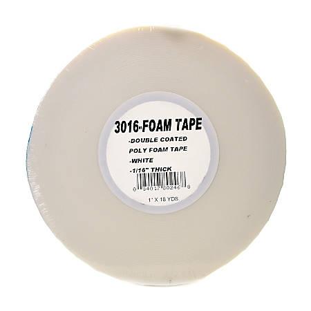 "Pro Tapes Foam Tape, 1/16"", 1"" x 648"", White"
