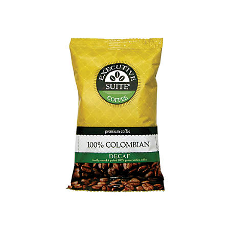 Executive Suite 100% Colombian Decaffeinated Coffee, 2 Oz., Box Of 42