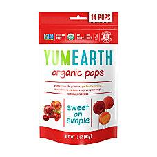 Yummy Earth Organic Lollipops 3 Oz