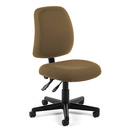 OFM Posture Series Fabric Mid-Back Task Chair, Taupe/Black