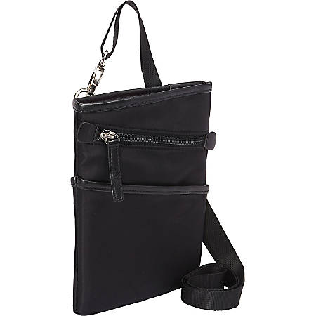 """WIB Dallas Carrying Case for up-to 7"""" Tablet, eReader - Black - Twill Polyester - Microsuede Interior - Shoulder Strap"""