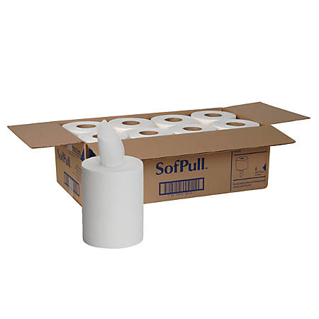 Georgia-Pacific SofPull® Centerpull Towels, 1-Ply, 275 Sheets Per Roll, Case Of 8