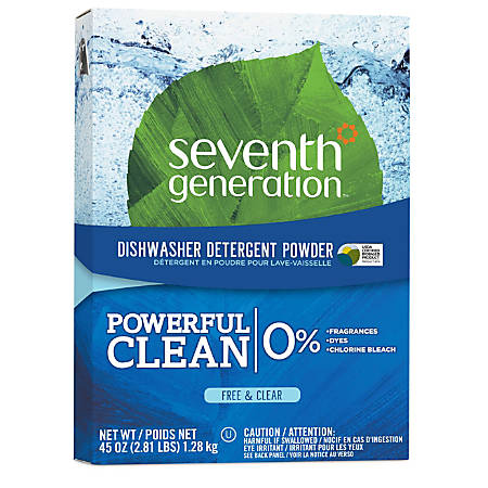Seventh Generation® Free & Clear Automatic Dishwasher Powder, 45 Oz.