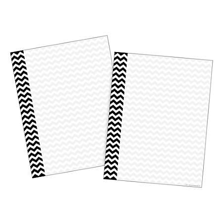 Barker Creek Computer Paper, Letter Paper Size, 60 Lb, Black Chevron, 100 Sheets