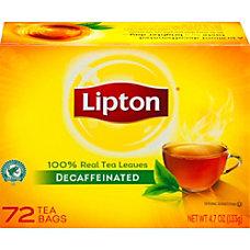 Lipton Tea Bags Decaffeinated Box Of