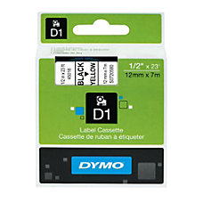 DYMO D1 45018 Black On Yellow