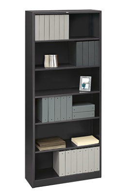 brigade wid shelves black od steel p bookcase by office hei products adjustable hon a