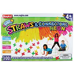 Roylco Straws Connectors 300 Piece Set
