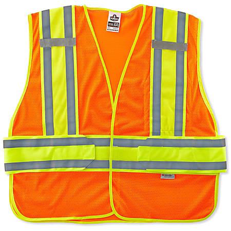 Ergodyne GloWear Safety Vest, 2-Tone Expandable, Type-R Class 2, X-Large/XX-Large, Orange, 8240HL