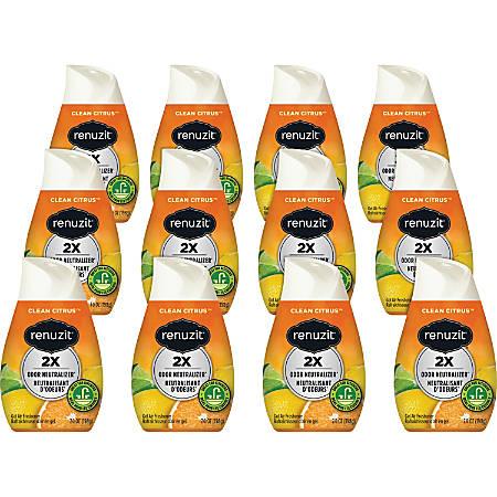 Dial Renuzit Adjustable Cone Gel Air Fresheners, Clean Citrus, 7 Oz, Pack Of 12