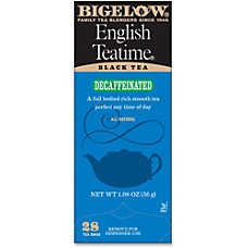 Bigelow English Tea Time Decaffeinated Tea