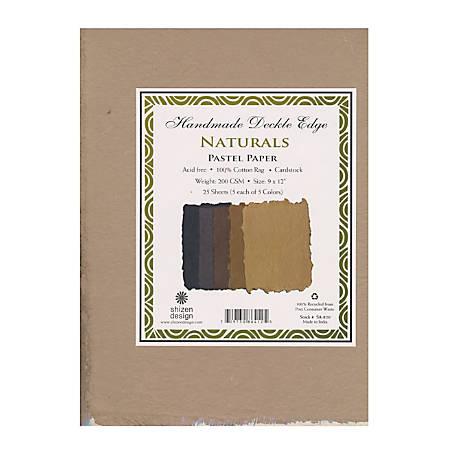 "Shizen Design Pastel Paper, Naturals, 8 1/2"" x 11"", Pack Of 25"