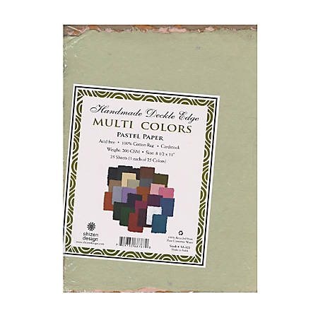 "Shizen Design Pastel Paper, Multi Color, 8 1/2"" x 11"", Pack Of 25"